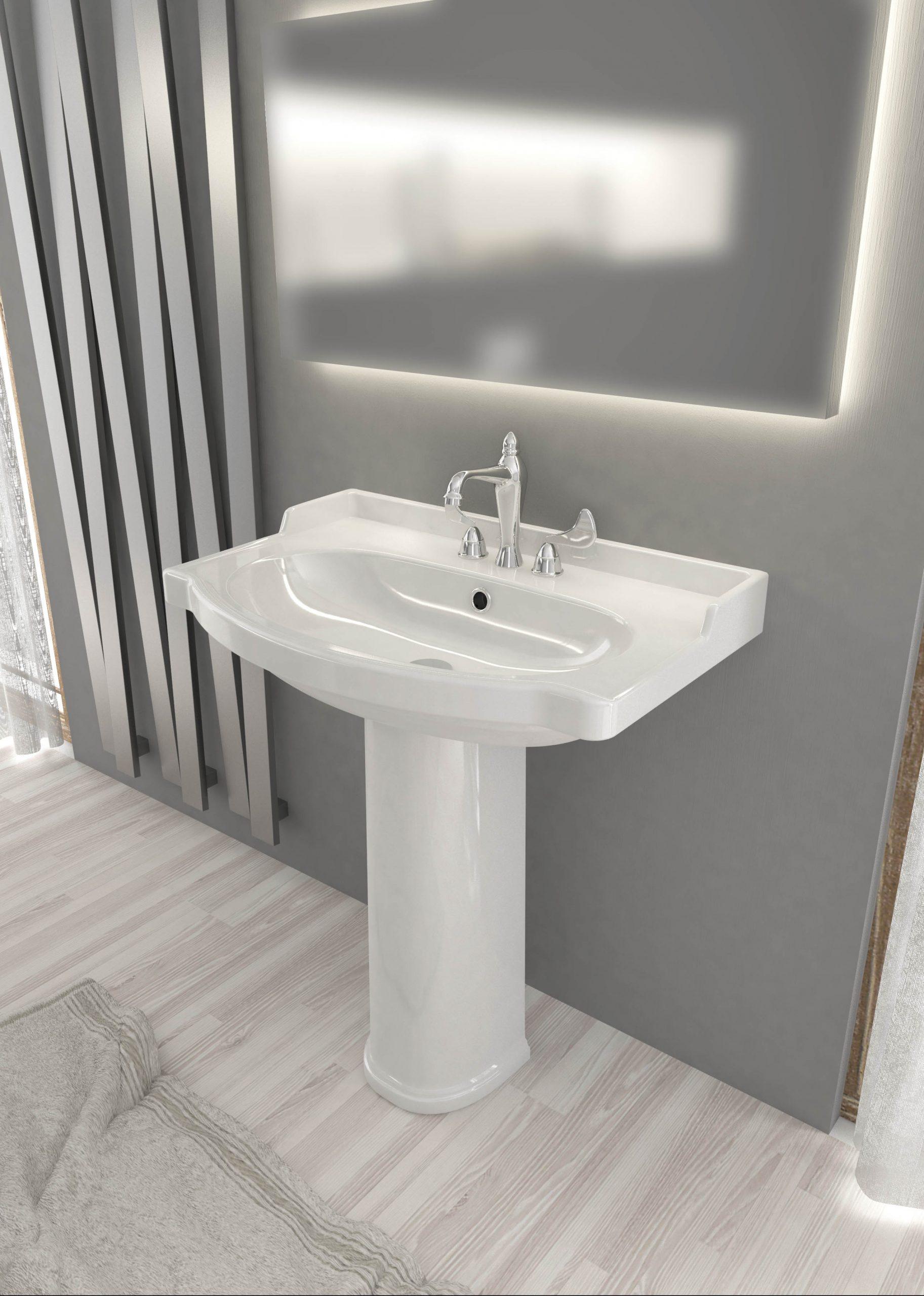 Lavabo A Colonna Design onda lavabo monoforo con colonna opera sanitari