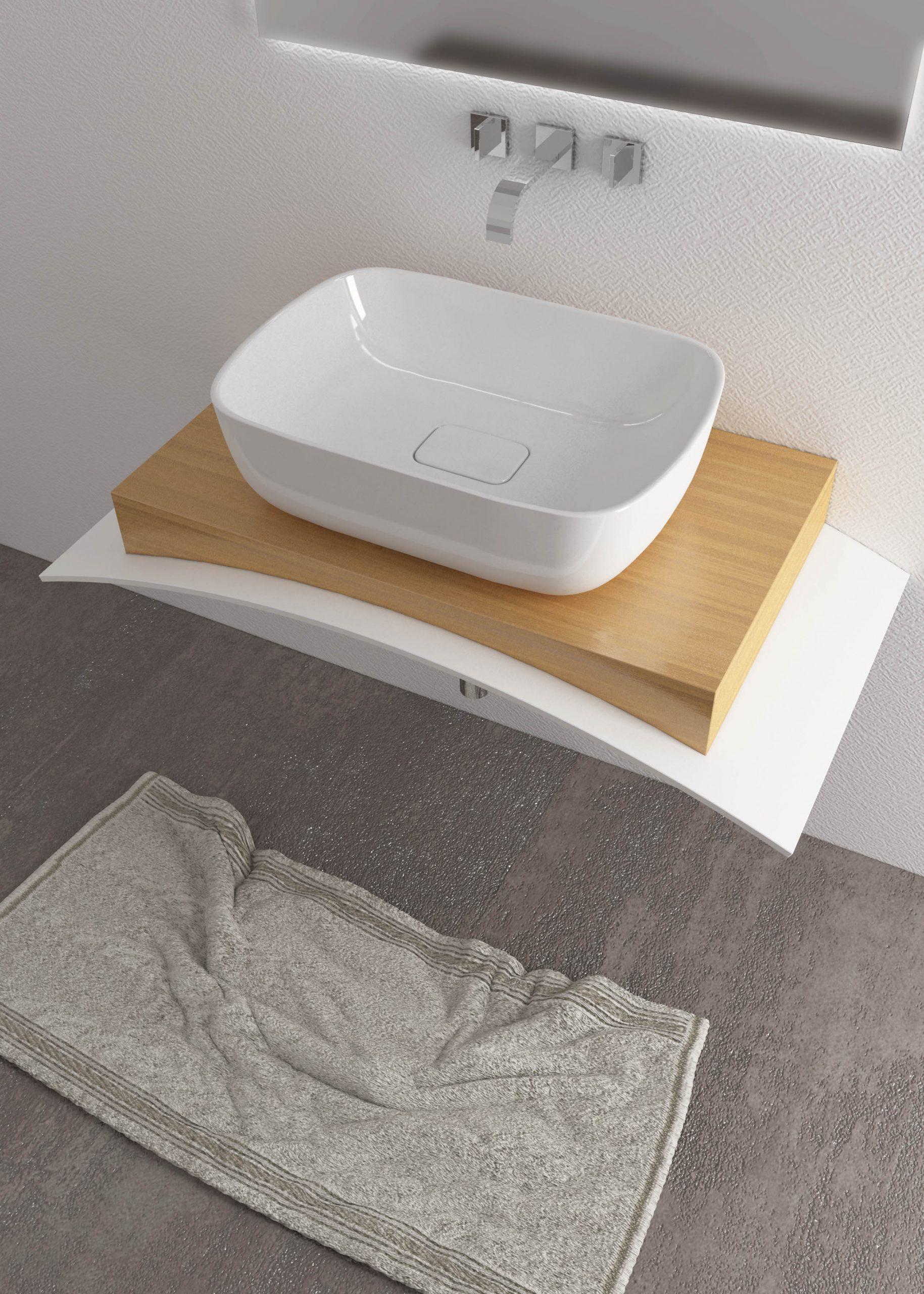 Piletta Per Lavabo Da Appoggio soft 60 lavabo da appoggio 65x45cm.opera sanitari
