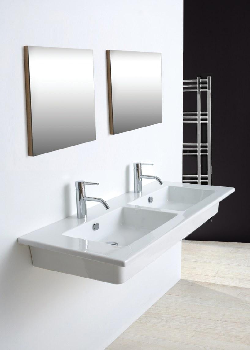 Lavabo 2 vasche incasso o sospeso marine - Vasche da bagno ad incasso ...