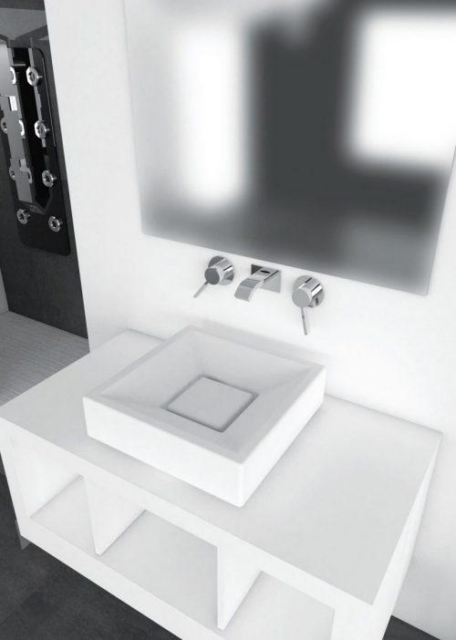 Lavabo da appoggio 45x45