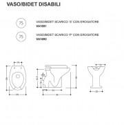 Scheda tecnica – Vaso con bidet integrato per disabili