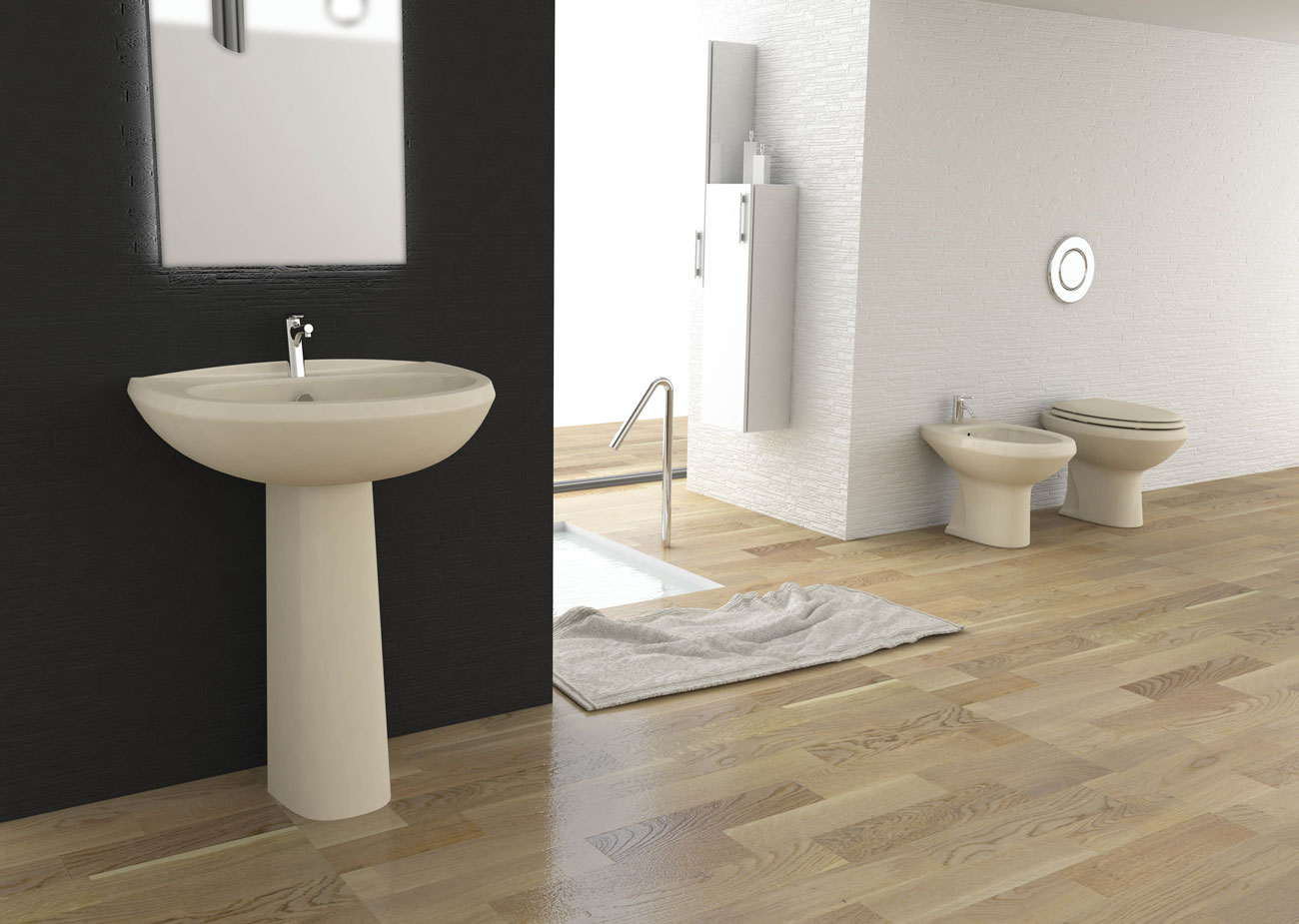 Bagno completo champagne Fly