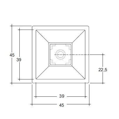 Lavabo appoggio side 45x45