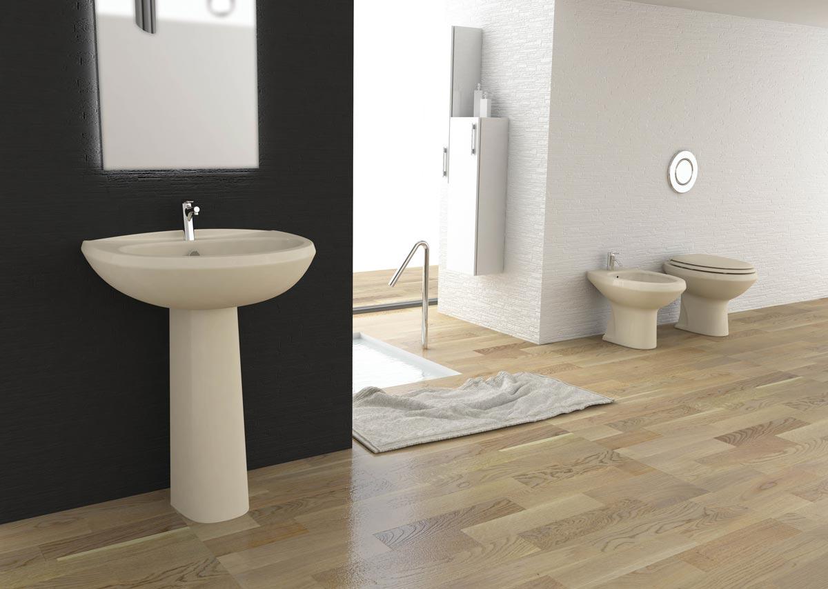 Lavabo A Colonna Design lavabo e colonna champagne fly di opera sanitari
