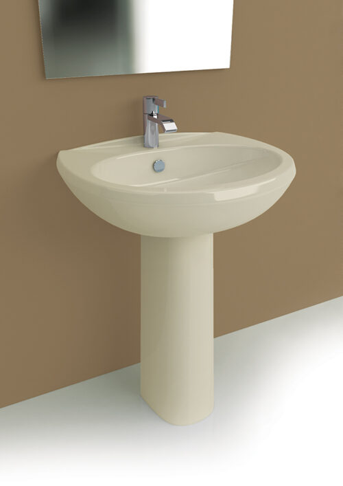 Lavabo color champagne