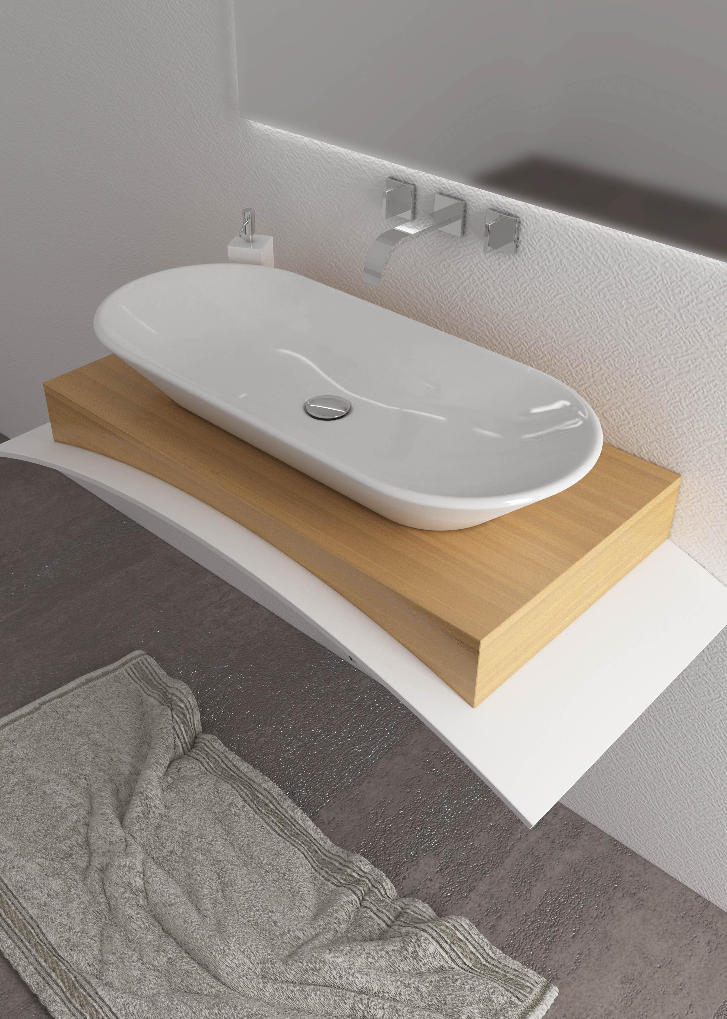 Lavello Bagno Da Appoggio siria lavabo da appoggio 50/70/90cm. opera sanitari