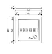 Piatto doccia 90×90 – Scheda Tecnica