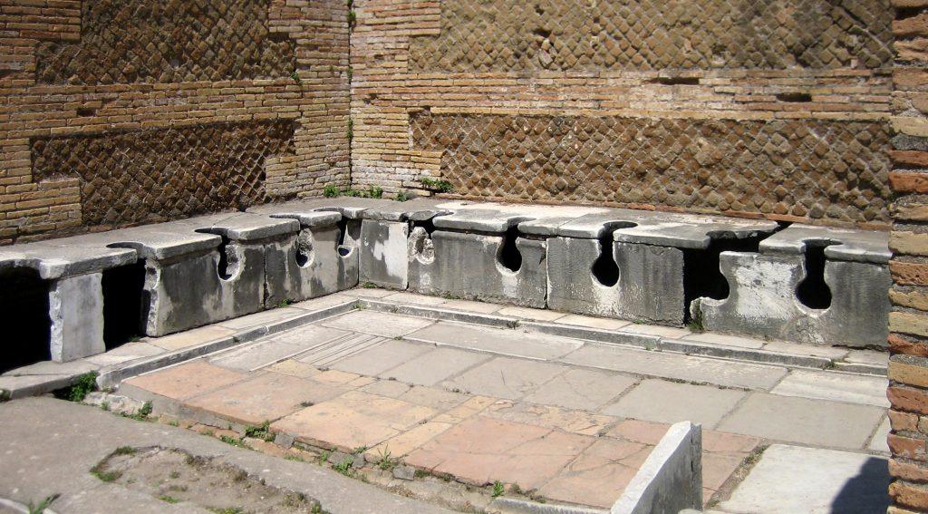 Bagni pubblici nell'antica Roma.