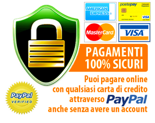 Paghi con carta di credito e Pay Pal