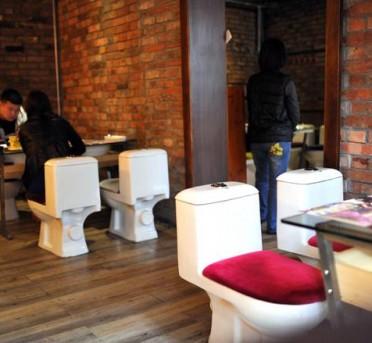 Ristorante con sedute wc