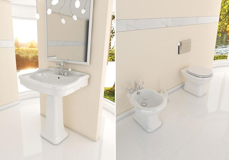 Offerte bagno completo con piatti doccia sanitari - Lavabo bagno colore champagne ...