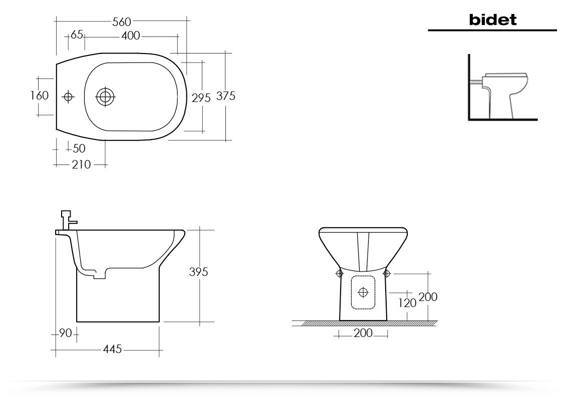 Coppia di sanitari orient rak con copriwater vaso e bidet for Scheda tecnica anta ribalta giesse