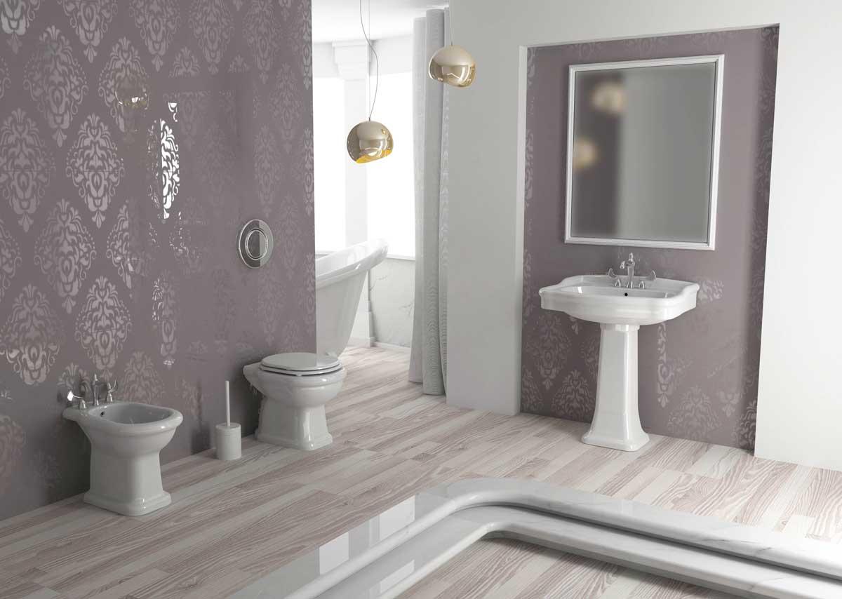 bagno completo con vaso bidet e lavabo armonia opera