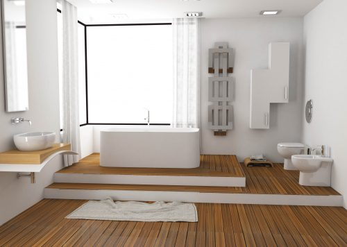 Bagno completo sanitari filo muro e Lavabo appoggio Sally Opera Sanitari