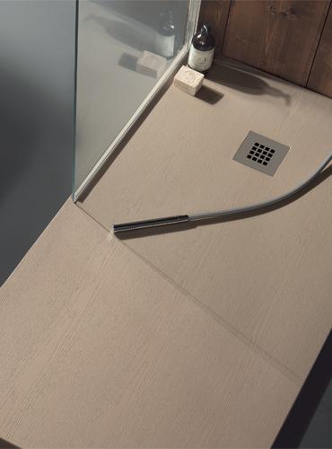 Piatto doccia in marmoresina 100x70 h3 color nocciola legno