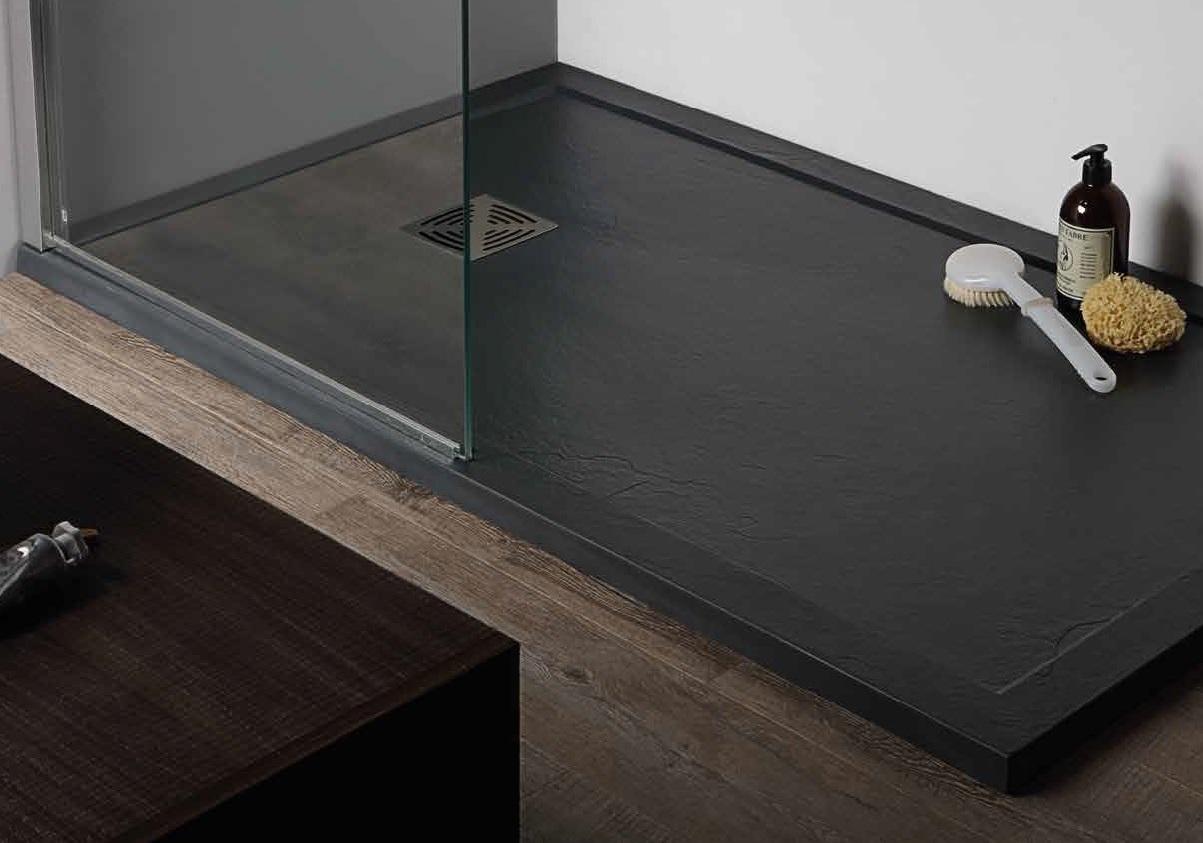 Piatto doccia flat in marmoresina rettangolare ultrasottil