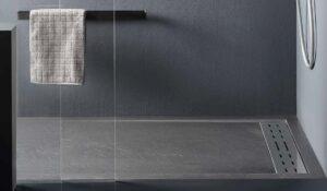 Piatto doccia in marmoresina 140x90x4 cemento