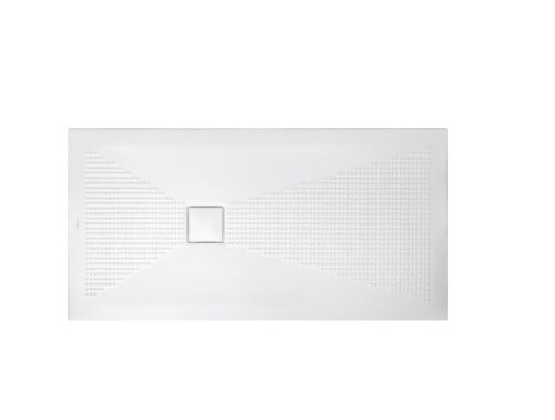 Piatto doccia bianco 140x70 h3 piletta quadrata