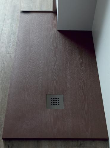 Piatto doccia marrone effetto legno
