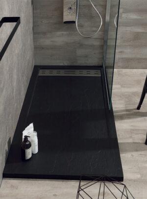 Piatto doccia in marmoresina 140x80 h4 Antracite