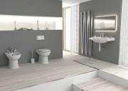 Bagno completo con sanitari,lavabo con colonna e coprivaso - Onda Opera Sanitari