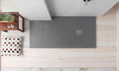Piatto doccia in marmoresina color cemento