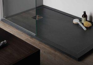 Piatto doccia marmoresina 100x70 h3,3 antracite pietra c/bordo