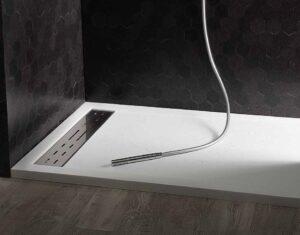 Piatto doccia in marmoresina 100x70 h4 bianco